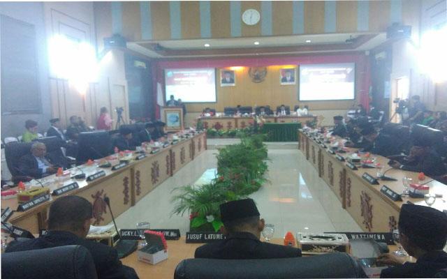 DPRD Tetapkan Perda APBD 2019 Kota Ambon