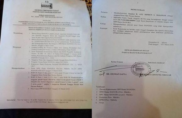 DPP Hanura Cabut Keanggotaan, Hasanussi Balik Melawan