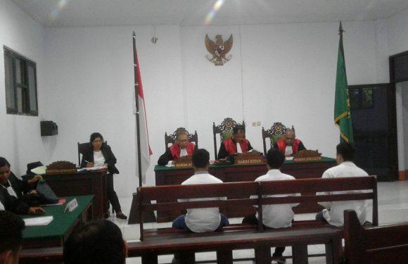 """Divonis Hakim,  Langsung Di""""Bui"""" Tiga Terdakwa Bentrok Batu Gantong"""