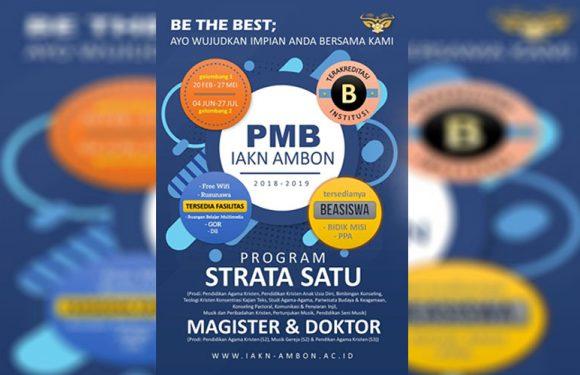IAKN Ambon Buka PMB Gelombang II 2018/2019