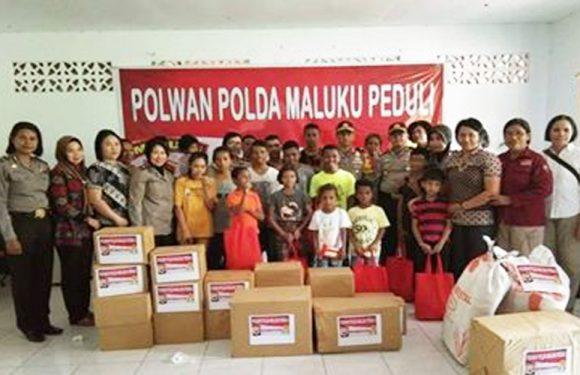 Peduli Kasih,Polda Maluku Kunjungi Panti Asuhan