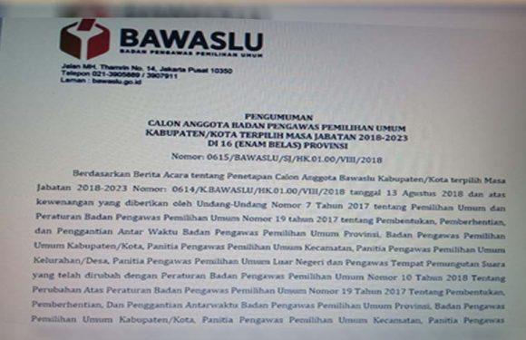 Bawaslu RI Umumkan 33 Calon Anggota Bawaslu se-Maluku