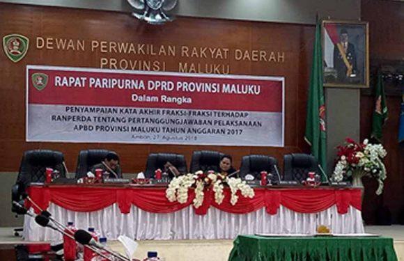 DPRD Maluku Paripurna LPJ APBD TA 2017