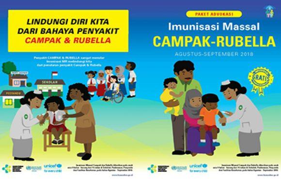 Besok, Gubernur Canangkan Kampanye Imunisasi Campak Rubella