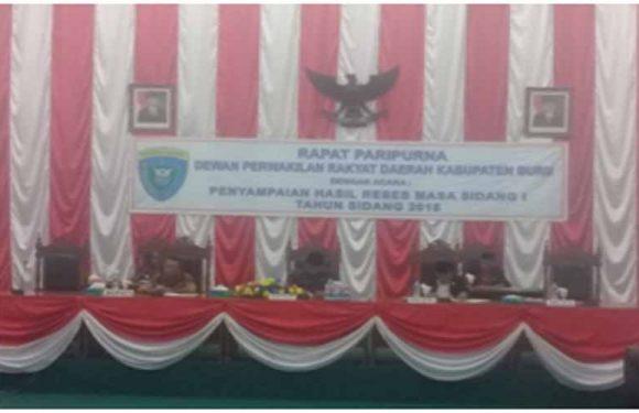 Paripurna Tiga Dapil, Dibuka Ketua DPRD Buru