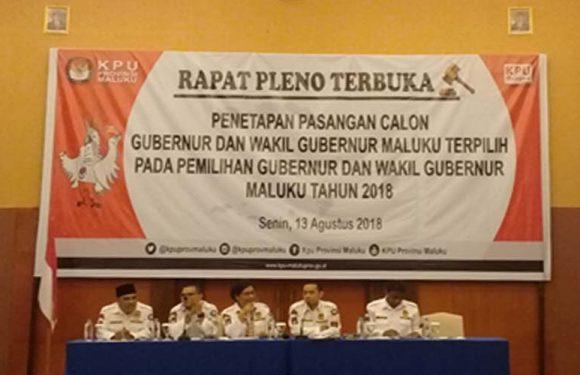 KPU Tetapkan Murad-Orno Pimpin Maluku 2019-2024