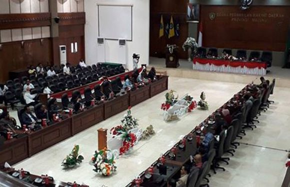 DPRD Maluku terima LPJ Gubernur Tanpa Interupsi