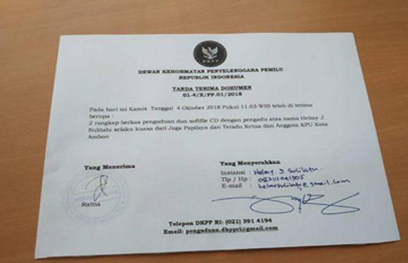 Papilaya Resmi DKPP-kan Ketua & Anggota KPU Ambon