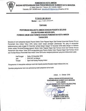 Hari Ini, 2.259 CPNS Pemkot Jumpa Walikota