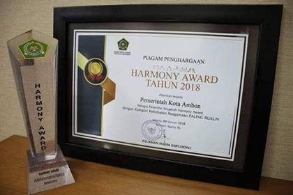 Raih Harmony Award, Bukti Kerukunan & Persaudaraan di Ambon Terpelihara