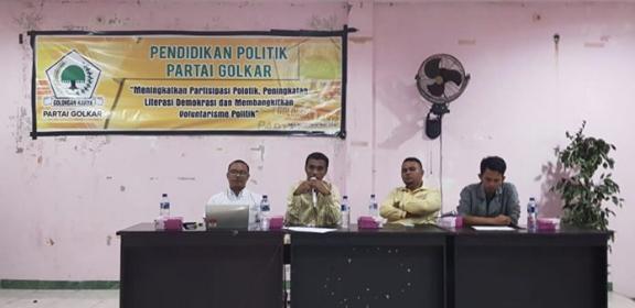 Pendidikan Politik Golkar Malteng & SBT Hadapi Pemilu 2019
