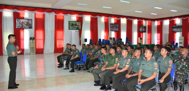 100 Prajurit Korem 151 Terima Penyuluhan Hukum