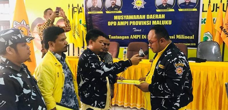Yusry Mahedar Terpilih Pimpin AMPI Maluku