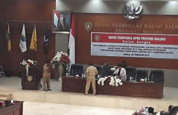 DPRD Maluku Terima LKPJ Akhir Masa Jabatan Gubernur