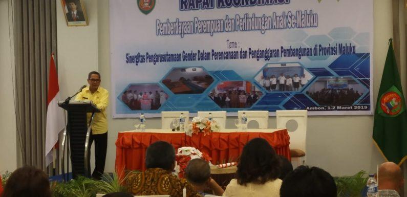 Rakor P3A se-Maluku, Sejumlah Persoalan Harus Diperhatikan
