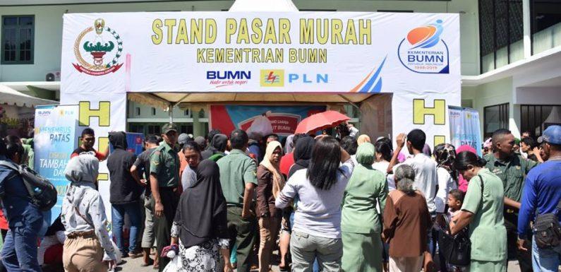 Pasar Murah Korem 151/Binaiya & PLN Sambut HUT BUMN