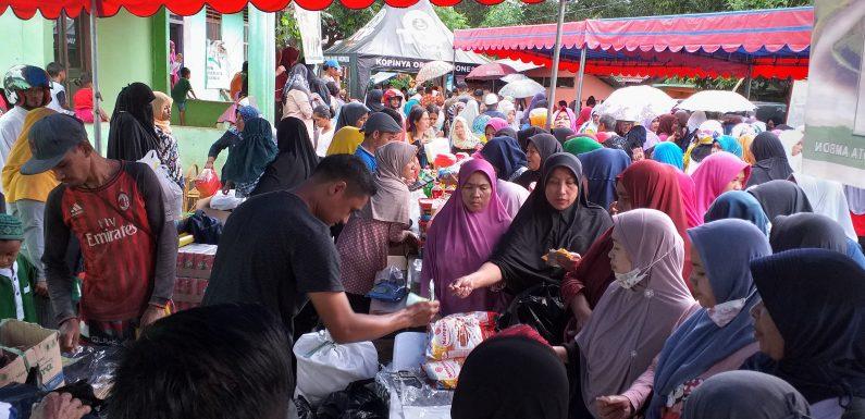 Warga Arbes & Sekitarnya Serbu Pasar Murah Idul Fitri
