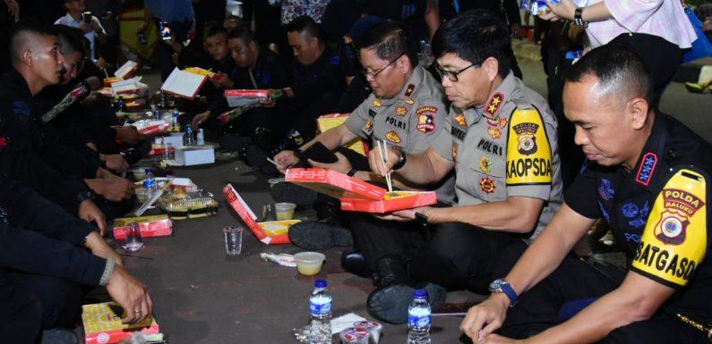 Bukber di Bundaran HI, Kapolda Semangati Brimob Maluku