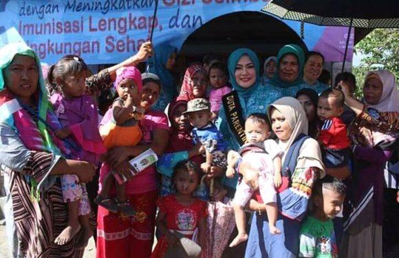 """Potong Pele"" Stunting di SBB, Widya Langsung Turun ke Locus Stunting"