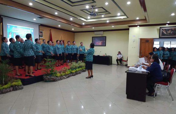 Hatalai Juarai Lomba Choir Mars PKK Kota Ambon