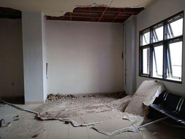 Akibat Gempa, Tiga Bangunan Unpatti Rusak Berat