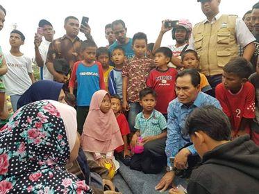 Wawali & Stakeholder Sambangi Warga di Sejumlah Pengungsian