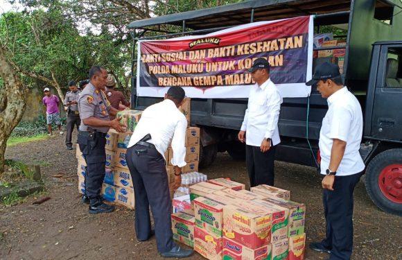 Bantuan Tahap Ketiga Disalurkan Polda Maluku ke 10 Titik