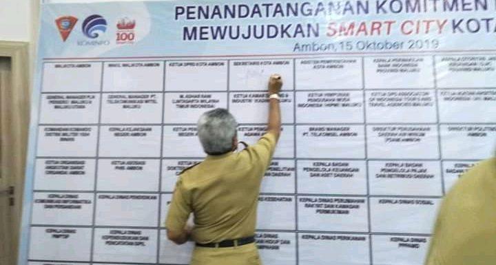 Teken MoU, Kepala OPD Siap Sukseskan Ambon Smart City