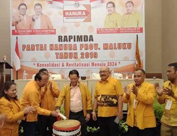 Gelar Rapimda, Hanura Maluku Usung Tiga Misi