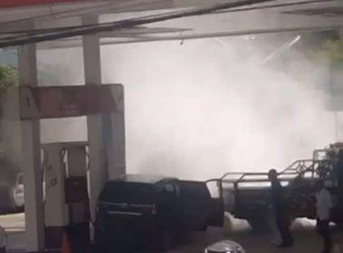 Dispenser BBM Ditabrak Avanza, SPBU Kece Nyaris Terbakar