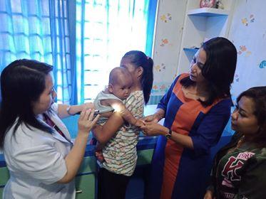 Tinggal di Pengungsian, Bayi 4 Bulan Gatal Hingga Badan Berjamur