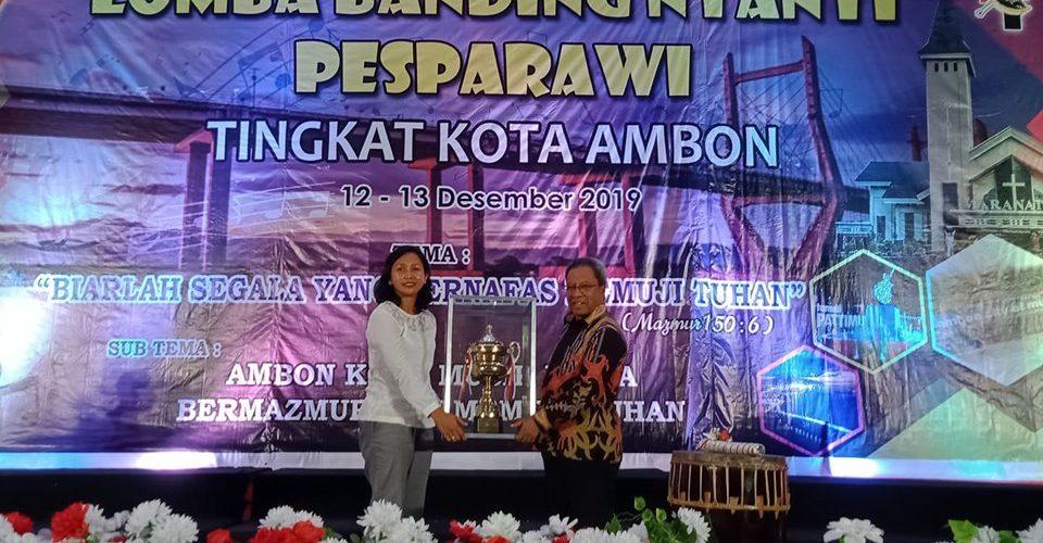 Kecamatan Sirimau Juara Umum PESPARAWI Kota Ambon 2019